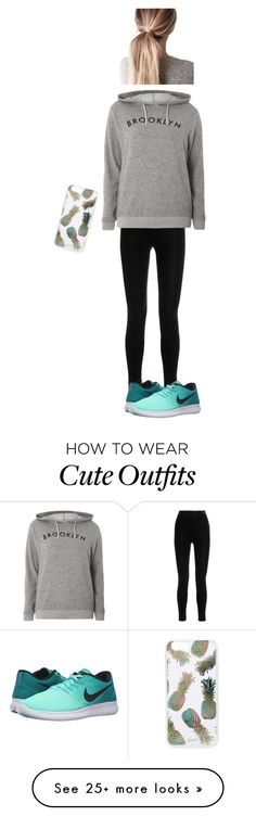 """""""My normal outfit"""" by hippiedoodle-keira on Polyvore featuring Balmain, Dorothy Perkins, NIKE and Sonix"""