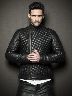 by La Marque Collection #leather #jacket #men #fall #moto #fw13 #dropcrotch #leatherpant