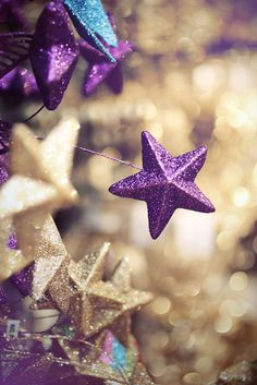 purple glitter star