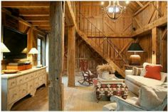 Barn converted home