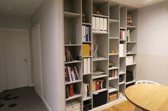 Regał na wymiar do salonu na książki. Bookshelf bookcase inspiration