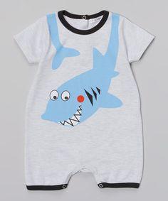 Look what I found on #zulily! Gray Shark Romper - Infant #zulilyfinds