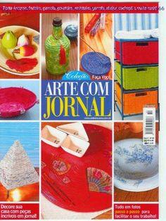 REVISTAS DE MANUALIDADES GRATIS: Arte con periodico