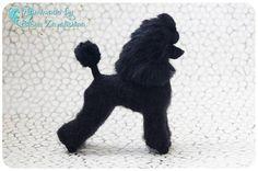 Poodle /OOAK/Needle felted animal/Felt dog/Poodle