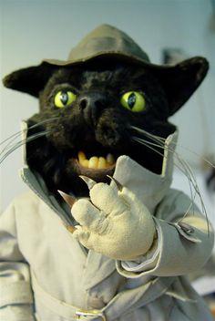 loutka kočky z filmu Na půdě Film, Cats, Animals, Movie, Movies, Gatos, Film Stock, Kitty Cats, Animaux