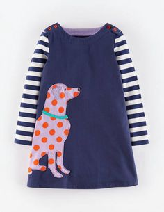 Pop Appliqué Dress 33384 Day Dresses at Boden