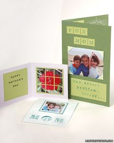 By using scrapbooking techniques, you can create clever, one-of-a-kind Mother's Day cards.