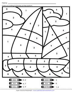 Super Teacher Worksheets Color By Number Free Kindergarten Worksheets, 1st Grade Worksheets, Number Worksheets, Teacher Worksheets, Worksheets For Kids, Printable Worksheets, Printables, Bible Coloring Pages, Printable Coloring Pages