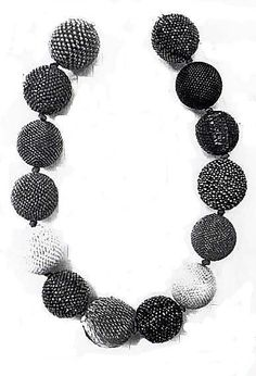 Beaded Bead Necklace  Axel Russmeyer