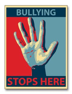 Anti-bullying poster in the style of obama campaign poster. Stop Bullying Posters, Cyber Bullying Poster, Bullying Quotes, Stop Cyber Bullying, Bullying Lessons, World History Teaching, World History Lessons, Anti Bullying Week, Bullying Activities