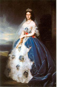 1852 Queen Olga of Württemberg by Franz Xavier Winterhalter (Landesmuseum Württemberg, Stuttgart)
