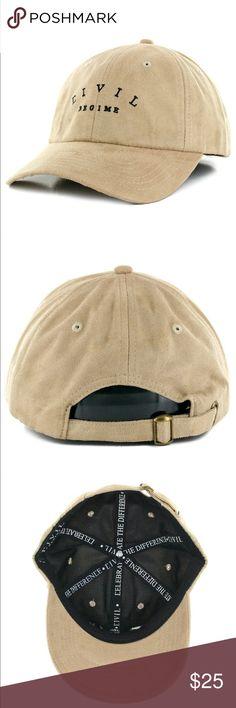 12166df5765 Civil Regime Suede strapback dad hat baseball cap NWT