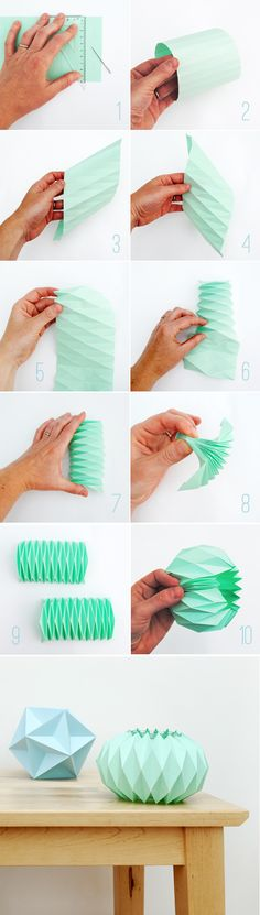 How To Make Accordion Folded Paper Candle Holders >> http://homedecornut.com/?p=1246