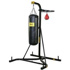 I really do love the punching bag and the speed bag. Great workouts for my short mornings. Get a little wrist weights too, perfect!