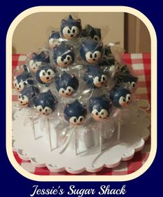 Sonic The Hedgehog Cake Pops