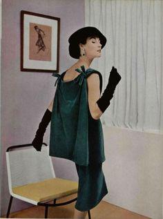Balenciaga Outfit - 1955  L'Officiel De La Mode - 401-402