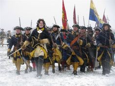 Swedish troops of Charles XII during winter campaign