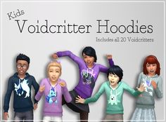 Voidcritter Hoodies Voidcritters have taken over my life and to celebrate I decided to make some voidcritter jumpers for da kids because why not! They're not perfect but they're cute so I'm sharing...