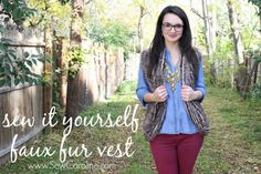Faux Fur Vest - I originally found this great project on freeneedle.com along with 1,000s of other free sewing and craft ideas!