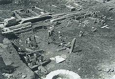 552_303110 Archeologische opgraving van de fundamenten van het huis Scharlaken aan de Waag - Regionaal Archief Dordrecht