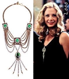 Gatsby-inspired look. Necklace. Mira Sorvino in The Great Gatsby, 2000