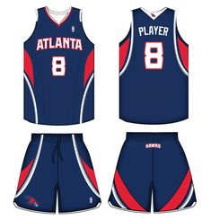 Atlanta Hawks Road Uniform 2011-2014