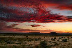 dramatic desert sunset
