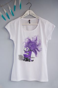 Hand painted Women and Men T-shirt: Minion by SpringHoliday