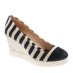 Seville canvas wedge espadrilles.  Love the stripes and espadrilles by JCrew