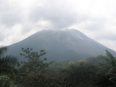 Costa Rica Volcano, view from our resort.