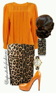 Orange skirt: ideas of spectacular images