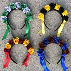 Harry Potter Hogwarts House Flower Crown Headband / Gryffindor / Hufflepuff / Ravenclaw / Slytherin