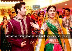 Danish Taimoor and Ayeza Khan Pakistani Models, Pakistani Dresses, Aiza Khan Wedding, Pakistan Bridal, Ayeza Khan, Wedding Moments, Beautiful Couple, Sari, Actresses