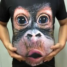 Make the most of your beer belly by going out on the streets with this orangutan shirt. The adorable baby orangutan graphic of this ultra-soft and pre-shrunk cotton t-shirt makes it look like Funny Shirts For Men, 3d T Shirts, Cool T Shirts, Printed Shirts, Funny Tshirts, Casual Shirts, T Shirts For Women, Sports Shirts, Video Humour