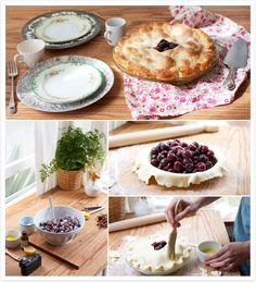 Double crusted fresh cherry pie recipe