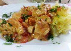 Tocanita din piept de pui si ciuperci Potato Salad, Potatoes, Meat, Chicken, Ethnic Recipes, Beef, Potato, Cubs