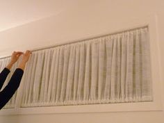 Dans le Lakehouse: DIY Window Covering for Awkward Windows                                                                                                                                                                                 More