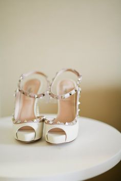 Studded Valentino pumps #shoes | Photography: CLY Creation - clycreation.com  Read More: http://www.stylemepretty.com/2014/05/06/modern-blush-pink-wedding/