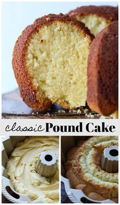 Dense, buttery, and just waiting to be topped with strawberries and strawberries! This is a classic pound cake where all 4 ingredients are measured by the pound! Easy Pound Cake, Pound Cake Recipes, Easy Cake Recipes, Dessert Recipes, Icing Recipes, 1 Pound, Steak Recipes, Cupcake Recipes, Delicious Recipes