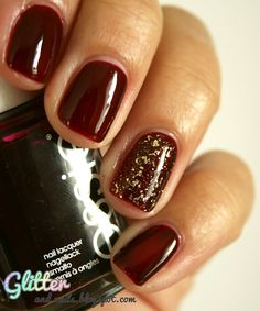 Blood & Gold : Essie Skirting The Issue & NYX Gilded Glitter
