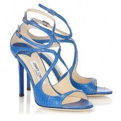 17d9ab07221 Jimmy Choo Lang Aegean Elaphe Strappy Sandals.  oceanblue  azur  türkis   blue  blau  sandals  jimmychoo  summer  heels  JimmyChooHeels