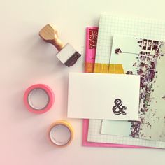 Ampersand Rubber Stamp by Ann Marie Morris