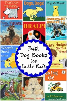 Best kids books about dogs! A list of favorite story books for kids featuring dogs and puppies.