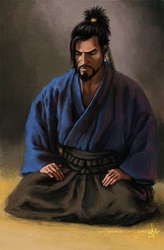 September reward for my patron Havoc. Hanzo Shimada (Overwatch by Blizzard) meditating, wearing traditional Japanese kimono and hakama. If you'd like to get such pictures for your own be. Overwatch Tattoo, Overwatch Hanzo, Overwatch Fan Art, Japanese Art Modern, Japanese Culture, Traditional Japanese Art, Aikido, Character Portraits, Character Art