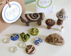 Miniature stone bench for Fairy garden Fairy by garnetteh on Etsy