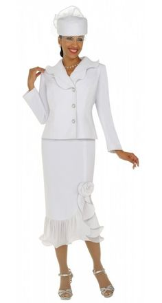 GMI Womens Church Suits. Love it from head to toe! Except the color. That shade of white would not look good on me.