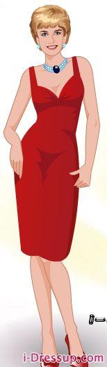 New Princess Diana Dress Up Paper Doll Released On I Dress Up.com | Princess Diana News