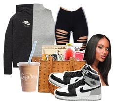 """""""Untitled #76"""" by thatgurlcandii ❤ liked on Polyvore featuring beauty, WearAll, NIKE, MCM and Retrò"""