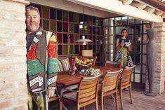 Philippe Stark and his wife  Jasmine Abdellatif in their house in Burano /// Philippe Stark e sua moglie Jasmine Abdellatif   nella loro casa di Burano • Designer