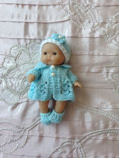 5 Berenguer Itty Bitty baby doll with hand by HandKnittedbyme